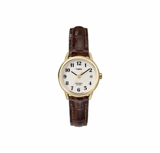 Timex Womens Indiglo Easy Reader Quartz Analog Leather Strap Watch with Date Feature  Product No: T20071