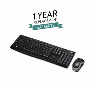 Logitech MK270r Wireless Keyboard and Mouse Combo With 1 Year Replacement Warranty