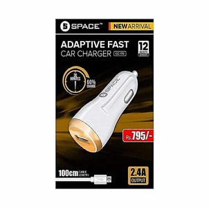 Space Adaptive Fast Car Charger (Single Port) With USB Cable  Product No. CC-170