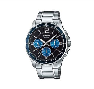 Casio MTP-1374D-2AVDF Timepieces ENTICER Series Gents Analog Stainless Steel Band Watch