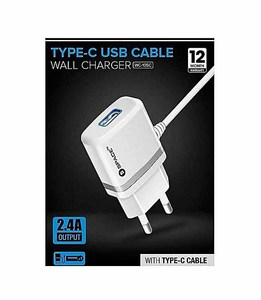 Space MICRO Wall Charger Type-C USB Cable Color  White  Product No. WC-105C