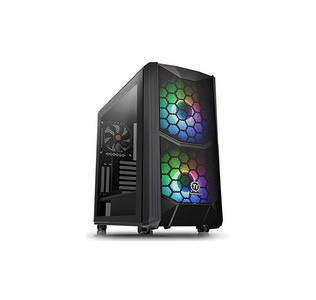 Thermaltake Commander C 35 Dual 200MM ARGB Fans Tempered Glass ATX Mid-Tower Chassis  Product No: CA-1N6-00M1WN-00