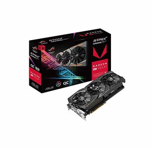 Asus ROG STRIX RXVEGA56-O8G-GAMING RX VEGA56 OC Edition 8GB with Aura Sync RGB for Best VR & 4K Gaming