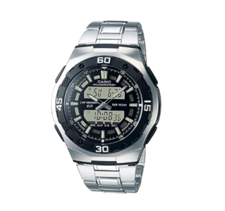 Casio AQ-164WD-1AVDF Youth Timepieces Series Analog & Digital Combination Stainless Steel Band Watch
