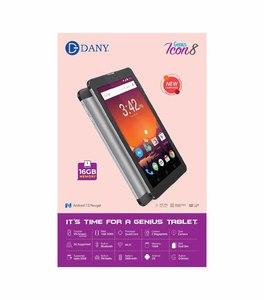 Dany Genius Icon 8 Tablet 1GB RAM, 16GB ROM & 2600mAh Battery With Dash Charging