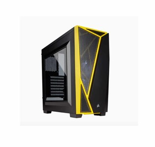 Corsair Carbide Series SPEC-04 Tempered Glass Mid-Tower Gaming CPU Case Color: Black & Yellow  Product No. CC-9011108-WW