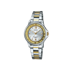 Casio LTP-1391SG-7AVDF ENTICER Series Analog Stainless Steel Gold Ion Plated & Triple Fold Clasp Watch