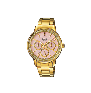 Casio LTP-2087G-4AVDF ENTICER Series Analog Stainless Steel Gold Ion Plated & Triple Fold Clasp Watch
