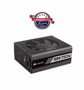Corsair RMx Series RM750x 750 Watt 80 PLUS Gold Certified Fully Modular PSU  Product No. CP-9020092-NA
