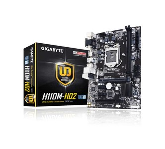 GIGABYTE GA-H110M-HD2 GA-H110M-HD2 (rev. 1.0) Intel H110 Chipset Motherboard  Product No: GA-H110M-HD2
