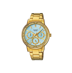 Casio LTP-2087G-2AVDF ENTICER Series Analog Stainless Steel Gold Ion Plated & Triple Fold Clasp Watch