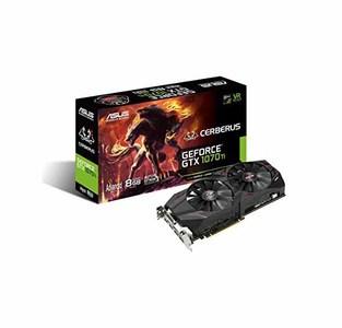 Asus CERBERUS-GTX1070TI-A8G Cerberus GeForce GTX 1070 Ti Advanced Edition 8GB GDDR5 with Rigorous Testing for Enhanced Reliability & Performance