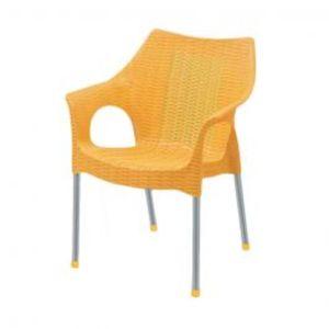 Rattan Plastic Chairs Yellow