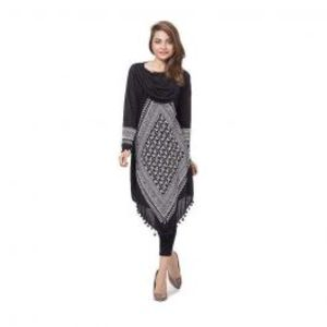 Black Printed Viscose Tunic