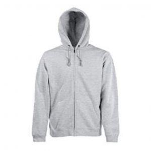 Mens Fleece Zip up Hoodie  Light Grey