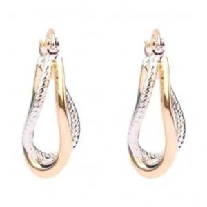 Gold & Rhodium Plated Stylish Earrings  25932