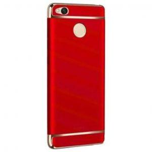 Xiaomi Redmi 4x Ultra Thin Electroplating 3 Piece Case Red