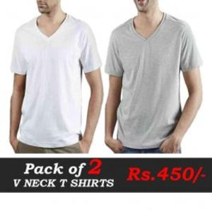 Pack Of Two V Neck T Shirts Deal 5