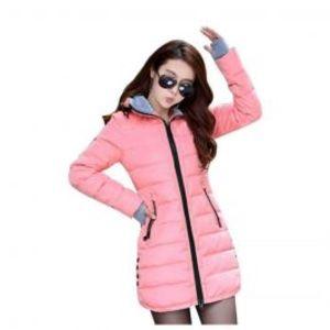Womens Wadded Down Pink Slim Coat