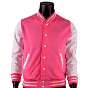 YNG Baseball Jacket For Mens Pink