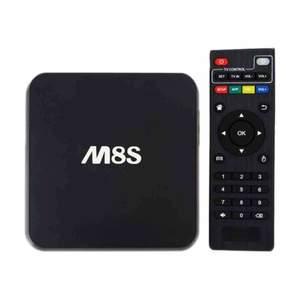 LapTab M8S Android Smart Tv Box 1G 8G Quad core 2k 4k Black