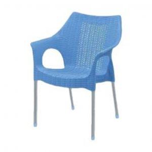 Rattan Plastic Chairs Blue