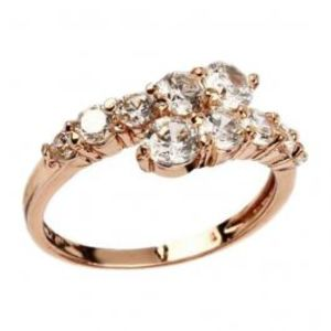 Fashion Café Rhinestone Embellished 18 K Gold Plated Ring