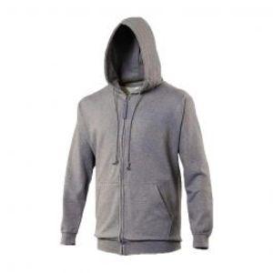 Fleece Zip up Grey Hoodie For Men