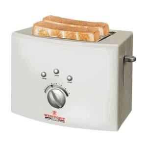 Westpoint 2 Slice Toaster  White