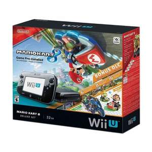Nintendo Wii U 32GB Console Deluxe Set With Mario Kart 8 Black