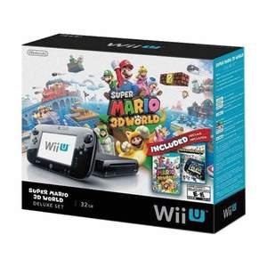 Nintendo WII U with Super Mario 3D World NTSC Black