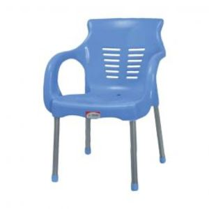 Super Steel Plastic Chair Blue