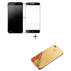 2 Xiaomi Redmi 4x Full Coverage Glass & Mirror Bumper Case