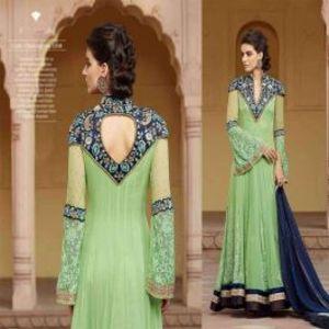 Sea Green BEAUTIFUL STYLISH DESIGNER EMBROIDERED DRESS