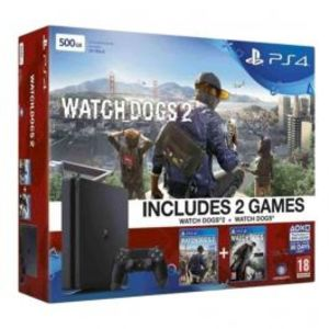 Sony Bundle Offer Playstation 4 Slim 500GB Black Console & Watch Dogs Collection