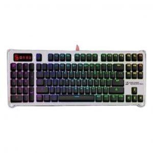 A4TECH Bloody B845R Bloody Mechanical Light Strike Left Num RGB Animation Gaming Keyboard Silver & Black