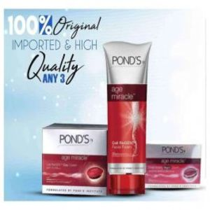 Pack Of 3 Ponds Age Miracle Cream & Facewash