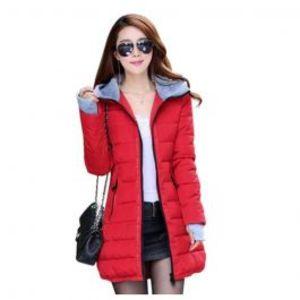 Womens Wadded Down Red Slim Coat