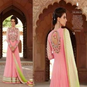 Pink BEAUTIFUL STYLISH DESIGNER EMBROIDERED DRESS