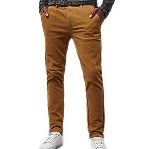 Mens Cotton Brown Chinos