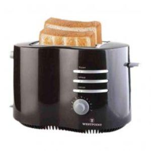 Westpoint 2 Slice Pop Up Toaster Black