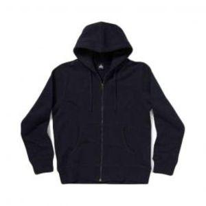 Mens Fleece Zip up Black Hoodie