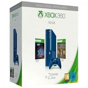 Microsoft Xbox 360 Blue 500GB Special Edition With Console Bundle