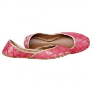 Pink & Golden Khussa for Women