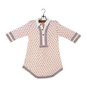 Amaze Collection Offwhite Malai Linen Embroidered Kurta for Girls  GS 410