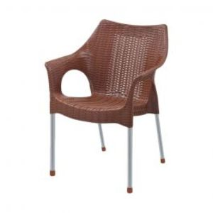 Rattan Plastic Chairs Brown