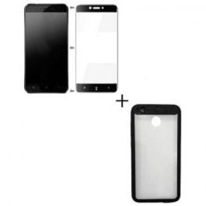 Xiaomi Redmi 4x Full Coverage Glass & Rubber Grip Hard Case