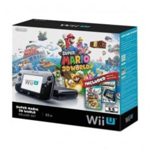 Nintendo WII U with Super Mario 3D World NTSC Black