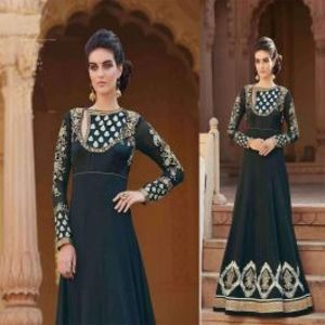 Black BEAUTIFUL STYLISH DESIGNER EMBROIDERED DRESS
