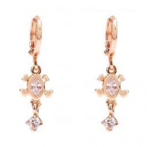 Fashion Café Rose Gold Plated Stylish Earrings  26001